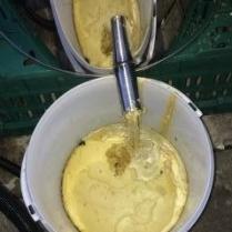 Melting wax From Abelo Steam Wax Melter